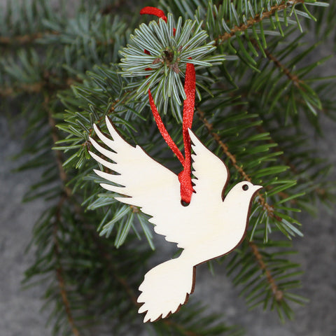 5 x Dove Tree Decorations / Gift Tags