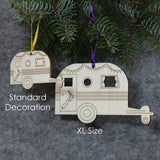 Caravan Tree Decoration / Gift Tag : EXTRA LARGE