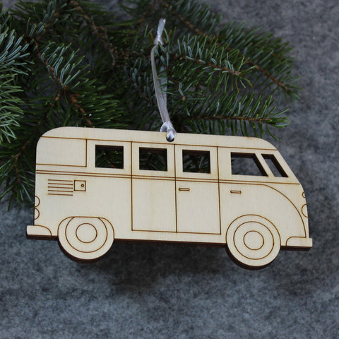 Camper Van Tree Decoration / Gift Tag : EXTRA LARGE