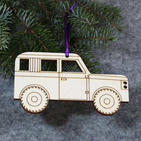 4x4 Tree Decoration / Gift Tag : EXTRA LARGE
