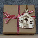 5 x Old Chapel Tree Decorations / Gift Tags