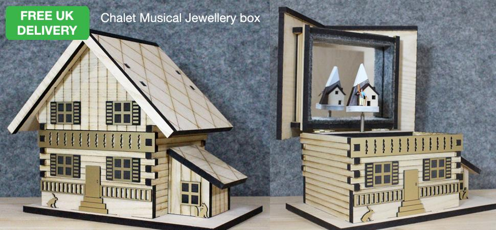 Chalet Musical Jewellery Box