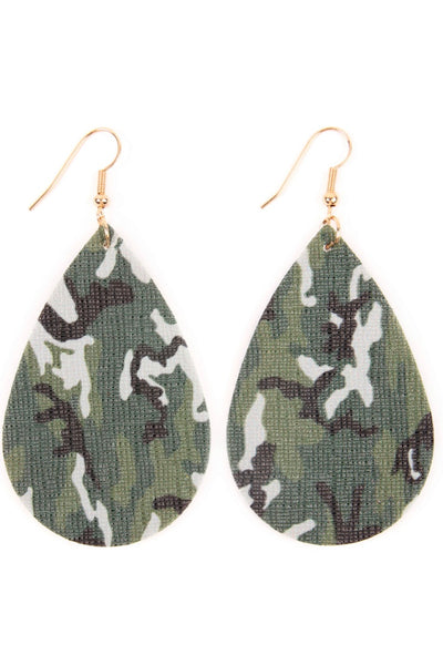 Camo Print Earrings