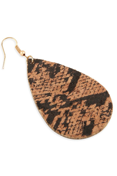 Snakeskin Print Earrings