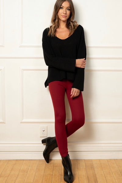 Best Day Ever Leggings *Burgundy*
