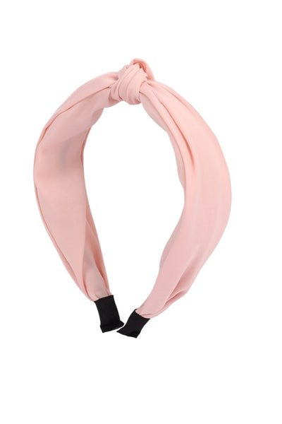 Pink Knot Top Headband