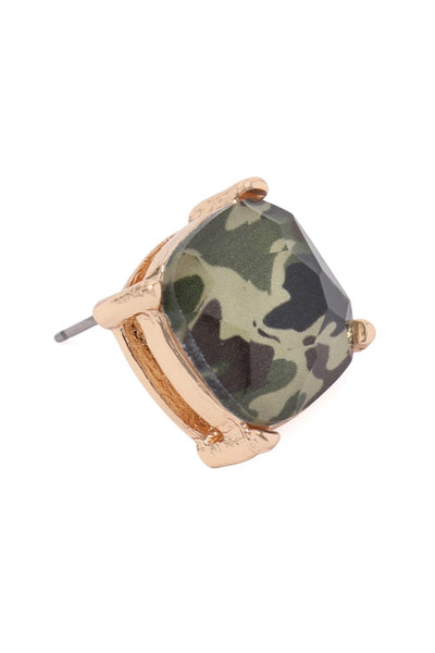 Camo Stud Earrings
