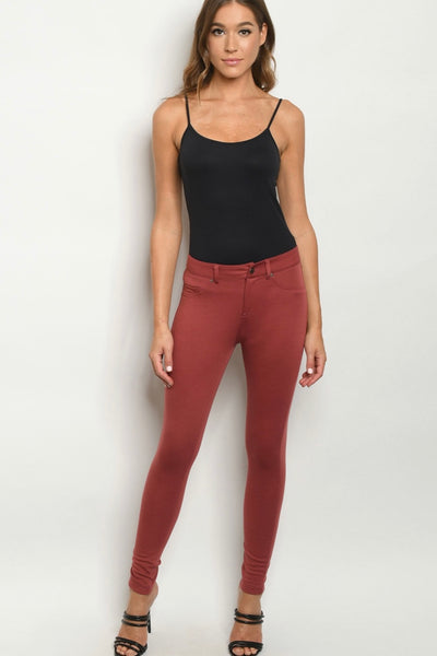 Best Day Ever Leggings *Marsala*