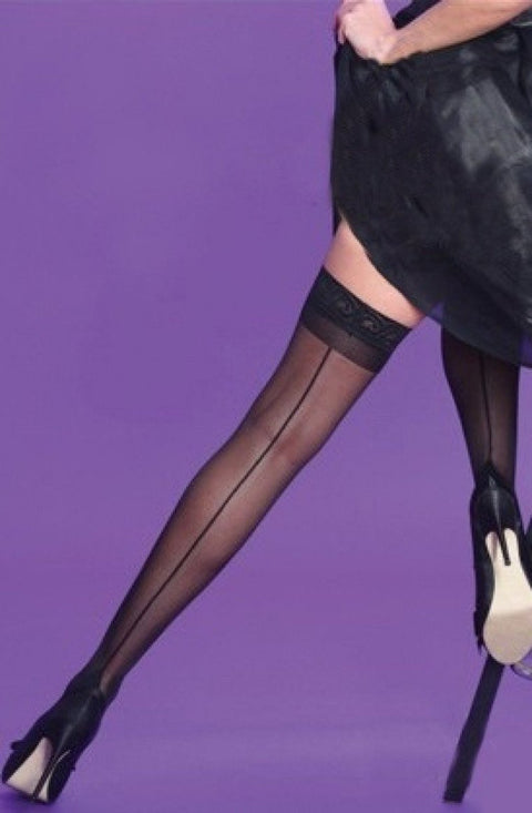 Back Seam Lace Hold Ups