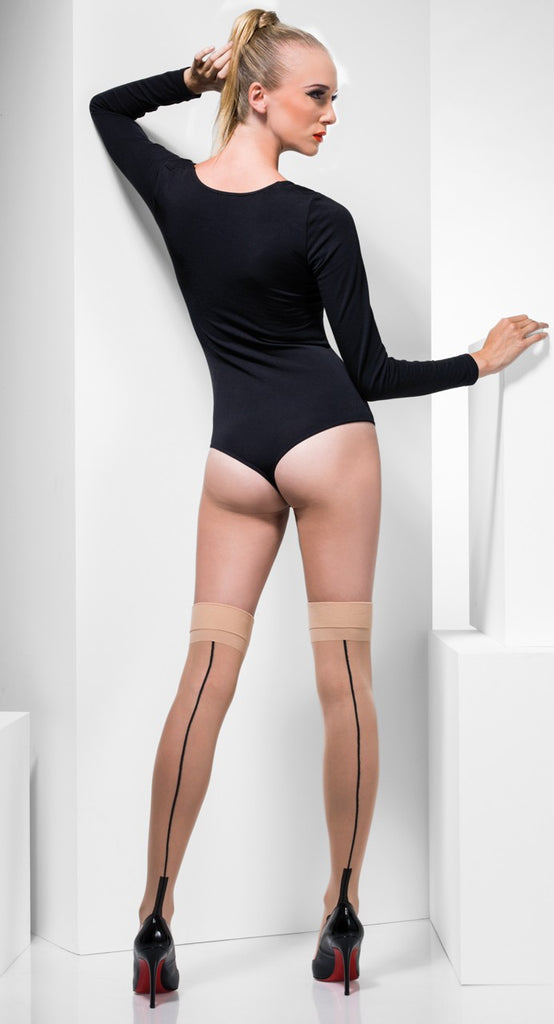 Fever Hosiery Sheer Seamed Hold-Ups