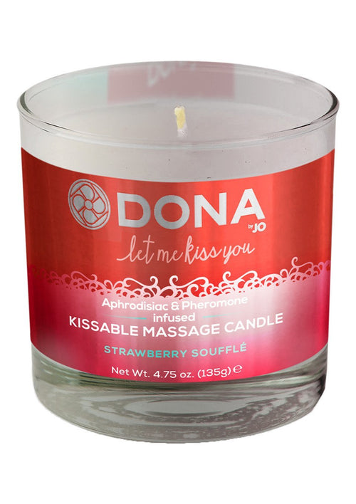 DONA by JO Kissable Massage Candle- Strawberry Souffle