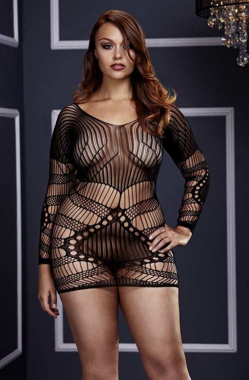 Longsleeve Lace Mini Dress (QS)