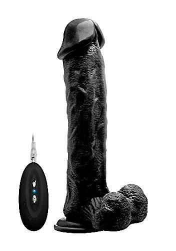 "Vibrating 11"" Realistic Cock and Balls With Remote"
