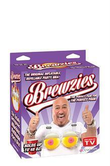 Brewzies- The Original Inflatable Party Drinking Bra