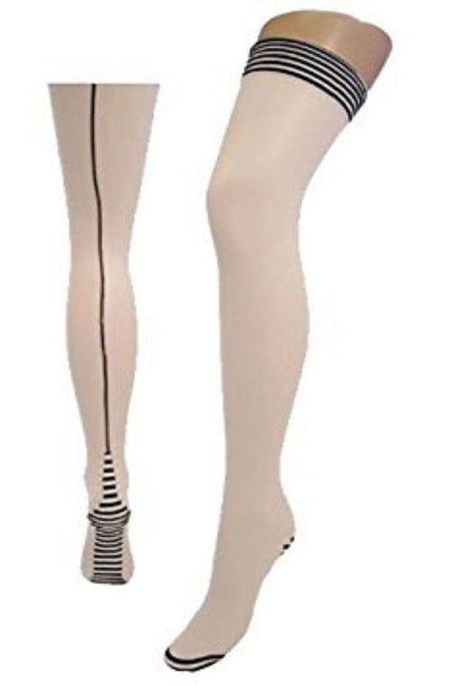 Piano Seamed Stockings by Pamela Mann