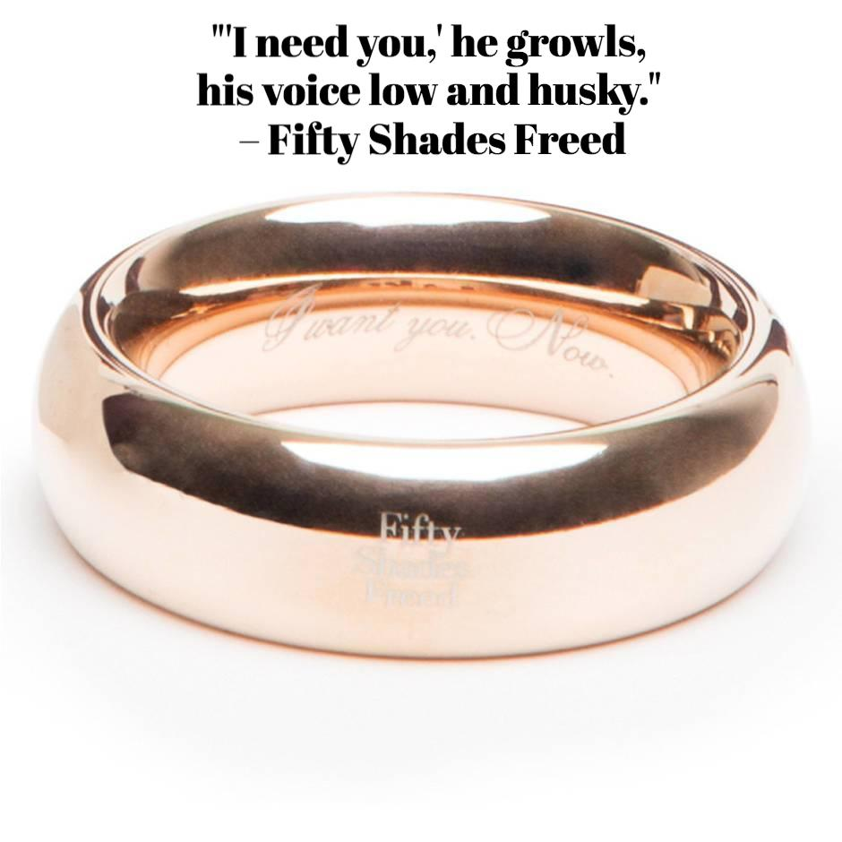 Fifty Shades Freed: I Want You. Now. Steel Love Ring