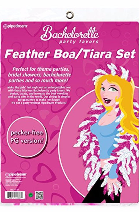 Feather Boa & Tiara Set