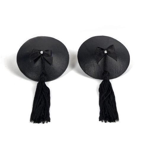Bijoux Indescrets Leather Effect Nipple Tassels