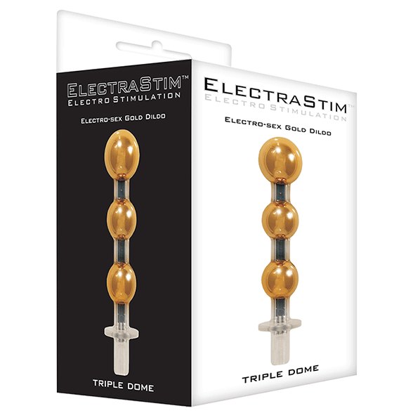 ElectraStim Triple Dome Gold Dildo