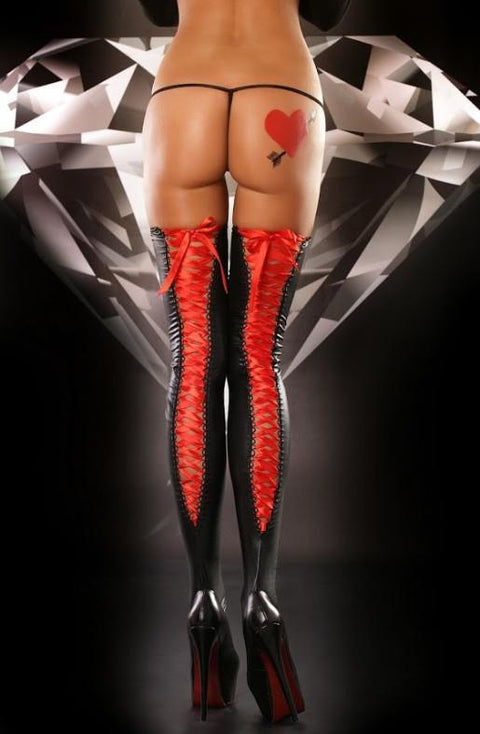Red Lacing Stockings