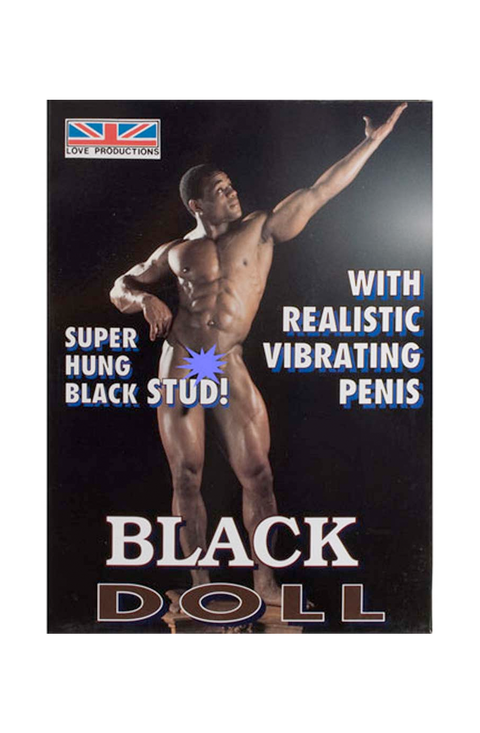 Black Doll Man With Realistic Vibrating Penis