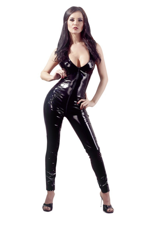 PVC Catsuit With Two-Way Zip