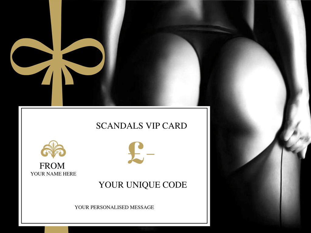Scandals VIP Gift Card- Personalised
