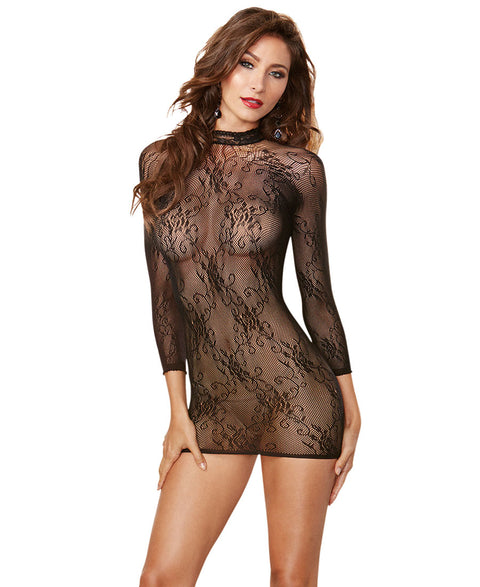 Dreamgirl Seamless Stretch Lace Tunic - One Size