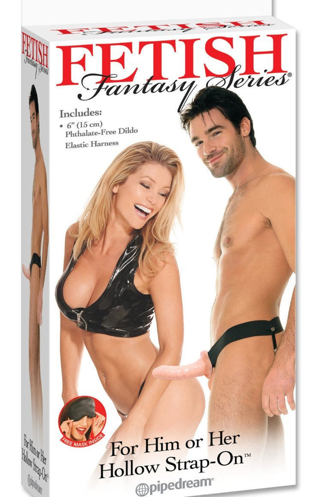 For Him or Her Hollow Strap-On Flesh