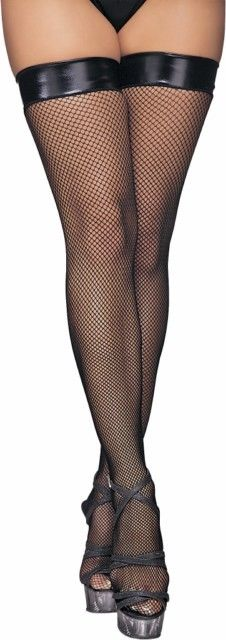 Classified Thigh High Stocking With PVC Welt