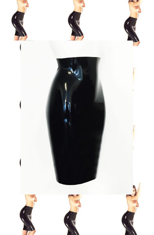 Iconic Pencil Latex Skirt 8-14