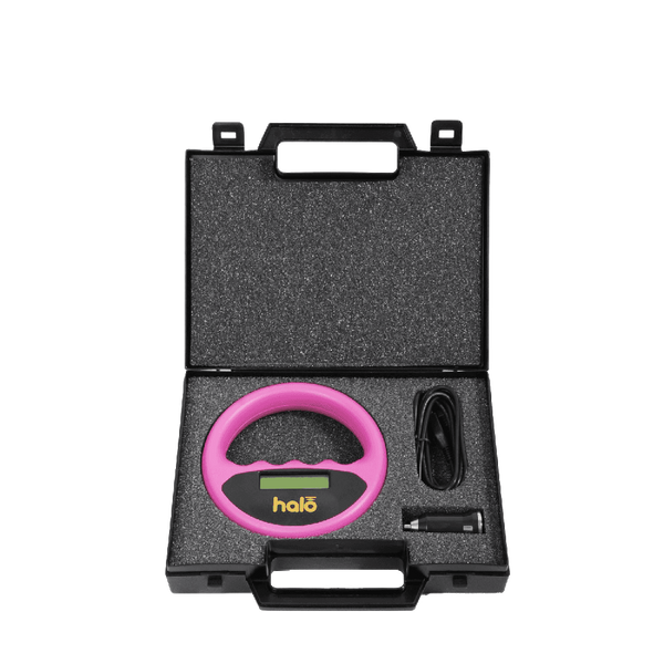 HALO PET MICROCHIP SCANNER MID06 (PINK in a Carry Case with Car Charger)