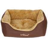 Leopet® HTBT03 Dog Bed DIFFERENT SIZES and COLOURS (Brown, S)