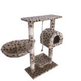 Leopet® KBM001 2grau Cat Tree Scratching Post Kitten Climbing Excercise Activity Centre Sisal