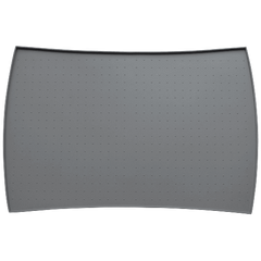 PetFusion Pet Food Mat in Premium FDA Grade Silicone (Large, Grey)
