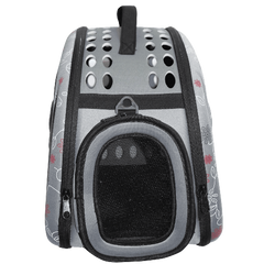 Petown Soft sided Pet Carrier pet Carriers Airline Approved with Foldable and Washable (Gray)