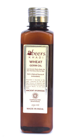 Abeers Khadi WHEAT GERM OIL for Stretch Marks - shopwellnessonline.com