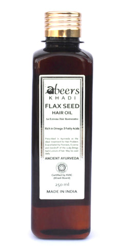 Abeers khadi FLAX SEED OIL for Dandruff & Hair Fall - shopwellnessonline.com