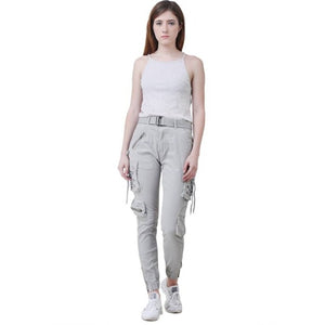 Women's Stylish Light Grey Cargo