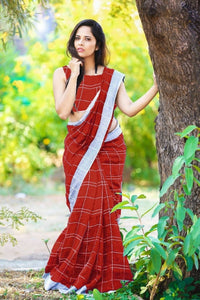 Women's Linen Cotton Saree  - kartlifestyle.com