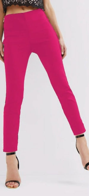 Stretchable Cotton Pencil Pink Pant