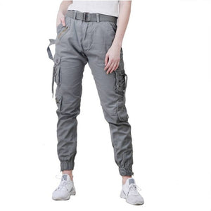 Women's Stylish Dark Grey Cargo