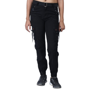 Women's Stylish Black Cargo