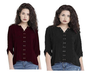 Women's Fashion Tops Pack Of 2  - kartlifestyle.com