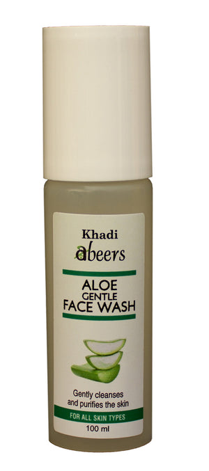 ABEERS Khadi ALOE FACE WASH - shopwellnessonline.com - 1