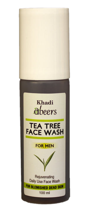 ABEERS TEA TREE FACE WASH for Men - shopwellnessonline.com - 1