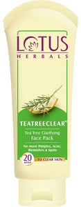 Lotus Herbals Tea Tree Clarifying Face Pack - kartlifestyle.com