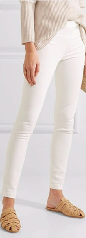 Stretchable Cotton Pencil White Pant