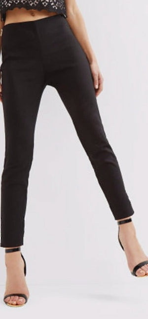 Stretchable Cotton Pencil Black Pant