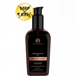 The Man Company Defence Theory Bhringraj & Basil Growth Hair Oil - kartlifestyle.com